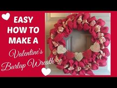HOW TO | BURLAP WREATH WITH ACCENT RIBBON! - YouTube