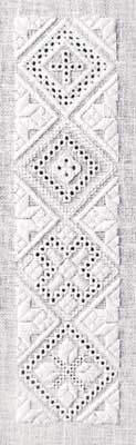 The Advanced Level Diamonds (whitework & pulled/drawn thread) | not really hardanger whitework and pulled/drawn thread
