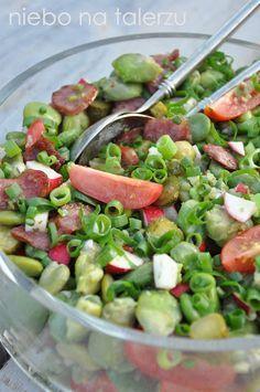 Sałatka z bobem Cooking Recipes, Healthy Recipes, Rabbit Food, Simply Recipes, Polish Recipes, Potato Salad, Food To Make, Food And Drink, Healthy Eating