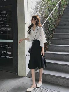 Korean Girl Fashion, Korean Fashion Trends, Korean Street Fashion, Korea Fashion, Kpop Fashion, Asian Fashion, Womens Fashion, 70s Fashion, Ulzzang Fashion Summer