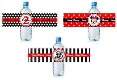 Minnie Mouse Party: Water Bottle Labels.