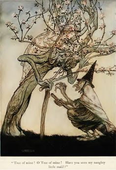 "Arthur Rackham, ""The Two Sisters"" from English Fairy Tales, 1922"