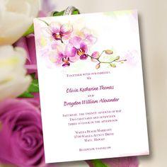 Printable Wedding Invitation Template Orchid  por WeddingTemplates