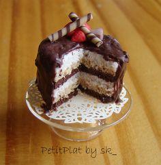 Six layer chocolate cake