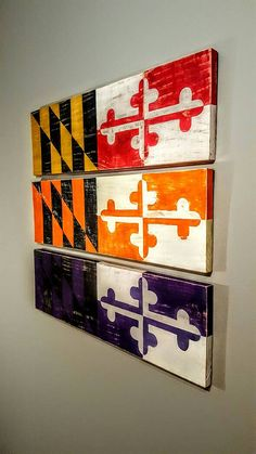 Maryland State Flag, Distressed Maryland Wood Sign, Maryland Terps, Terrapins, Baltimore Orioles, Baltimore Ravens, Weathered Wood Sign