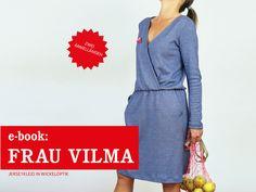 Nähanleitungen Mode - E-BOOK ★ FrauVILMA - Jerseykleid Wickeloptik - ein Designerstück von fritzi-selbermacher bei DaWanda