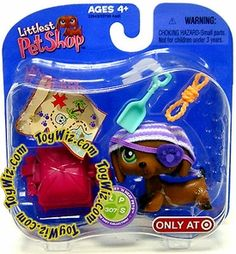 Littlest Pet Shop Exclusive Single Pack Daschund with Treasure Map