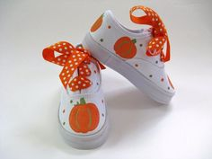Girls Pumpkin Shoes, Kid's Hand Painted Thanksgiving Sneakers, Baby and Toddler, Fall Harvest Painted Canvas Shoes, Custom Painted Shoes, Painted Sneakers, Hand Painted Shoes, Canvas Sneakers, Baby Girl Shoes, Kid Shoes, Girls Shoes, Toddler Shoes