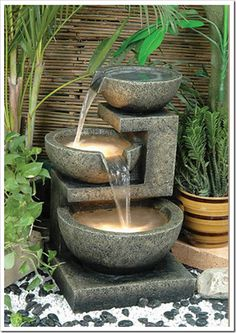 outdoor water features~~charming~
