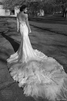 inbal dror wedding dresses 2013 2014 bridal off shoulder long sleeves gown train foam