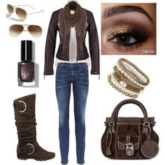 """shades of brown..."" by sweetlikecandycane on Polyvore"