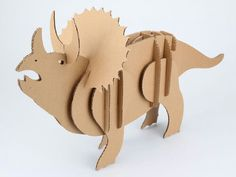 Dinosaur out of cardboard