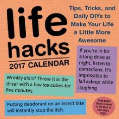 Shop for Life Hacks 2017 Calendar (Calendar). Free Shipping on orders over $45 at Overstock.com - Your Online Books Outlet Store! Get 5�0in rewards with Club O!