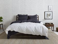 Parachute Home Linen Duvet Cover Full/Queen / Shore Duvet Bedding, Cozy Bed, Home, Bed Linens Luxury, Bedding Inspiration, Luxury Bedding Sets, Gray Duvet Cover, Linen Duvet Covers, Duvet Covers