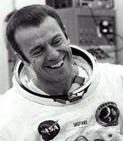 On May 5, 1961, Alan Shephard became the first American to go into space. His flight lasted 15 minutes.