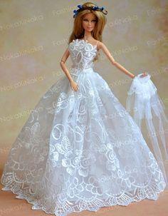 vestido noiva festa casamento gala boneca barbie susi