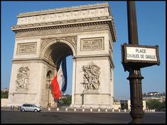 Arc de Triomphe | Paris | one of the most famous monuments in Paris  It stands in the centre of the | Place Charles de Gaulle | at the western end of the Champs-Élysées | The Arc de Triomphe | honours those who fought and died for France | in the French Revolutionary | and the Napoleonic Wars |