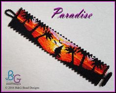 Take a walk on the wild side with this tropics-inspired floral and leaf motif cuff. Stitched in two-drop peyote, this pattern beads up quickly. Bead Loom Bracelets, Peyote Beading, Bracelet Crafts, Beadwork, Bead Loom Patterns, Peyote Patterns, Jewelry Patterns, Beading Patterns, Beach Jewelry