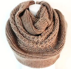 Womens Chunky Knitted Scarf Oversized Chunky Infinity Scarf by myfashioncreations, $44.00