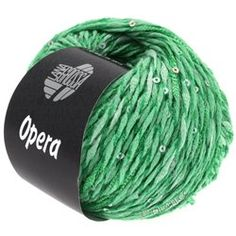 Lana Grossa OPERA - Full effect contrasting yarn of different textures with sequins 65 % Cotton, 25 % Polyamide, 5 % Viscose, 5 % Sequins Yardage: approx 100 m (109 yd) / 50 g Needle size: 5 - 5,5