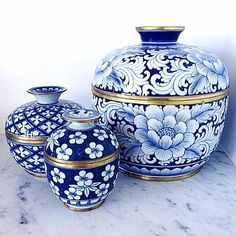 Trendy Ideas For Bedroom Blue And White Ginger Jars Blue And White China, Blue China, Love Blue, Delft, Keramik Vase, Blue Pottery, Chinoiserie Chic, White Vases, Ginger Jars