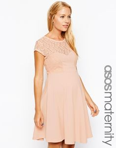 Asos maternity lace dress with cut-out back