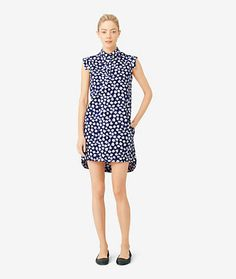 Saturday - Slim-Sleeve Dress in Indigo Floral