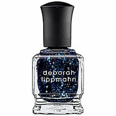 "Deborah Lippmann Nail Lacquer in Lady Sings The Blues | ""The best sparkle polish ever in vampy colors."" - The Gloss"