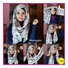 Hijab  segiempat Modest Clothing, Modest Outfits, How To Wear Hijab, Hijab Fashion, Women's Fashion, Hijab Style Tutorial, Head Scarfs, Hijabi Girl, Hijab Styles