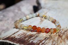 Peach Moonstone, Crystal Meanings, Rutilated Quartz, Quartz Crystal, Beaded Bracelets, Gemstones, Crystals, Jewelry, Jewlery