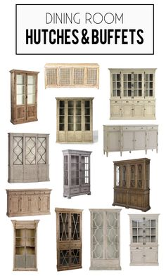 Are you looking for the perfect dining room hutch? I've rounded up a gorgeous collection of wood and reclaimed wood dining room hutch and buffets. Diy Interior, Interior Exterior, Country Farmhouse Decor, Farmhouse Chic, Farmhouse Windows, Life On Virginia Street, Dining Room Hutch, Dining Rooms, Beautiful Home Gardens