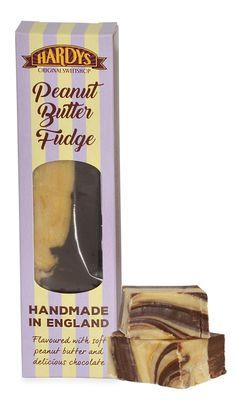 Hardys Original Sweetshop Peanut Butter Fudge Retro Sweets, Peanut Butter Fudge, Delicious Chocolate, Confectionery, Peppermint, British, The Originals, Mint