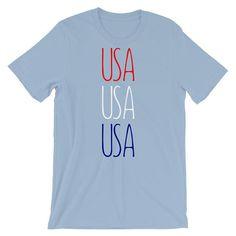 Red White Blue Shirt usa T-Shirt usa Olympics Patriotic Shirts Team usa America Shirt Patriotic TShirt usa Tee Fourth of July Shirt by 25VintagePlace
