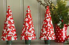 Button Christmas Trees