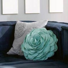 light teal ruffle pillow - Google Search