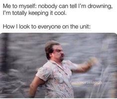 Icu Nurse Humor, Nurse Jokes, Medical Humor, Icu Nursing, Nursing Notes, Funny Nursing, Work Jokes, Work Humor, Healthcare Memes