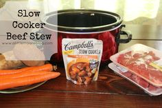Slow Cooker Beef Stew Made with Campbell's Sauces #ad