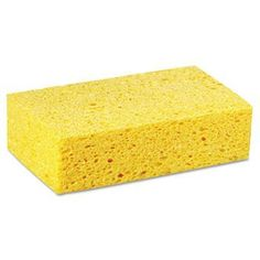 Large Cellulose Sponge, 4.27 x 7.8, Yellow, 24/Carton by LAGASSE (Catalog Category: Office Maintenance, Janitorial & Lunchroom / Cleaning Supplies) by Lagasse. $45.97. Large Cellulose Sponge, 4.27 x 7.8, Yellow, 24/Carton by LAGASSEMore absorbent than polyurethane sponges. Stronger, less likely to fall apart while in use. Sponge Type: Scrub Pad; Material(s): Cellulose; Scouring Pad; Shape: Rectangular; Width: 4.27 in.