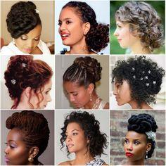 Crespa e cacheadas em dúvida sobre o que fazer com o cabelo para subir ao altar? Veja esses lindos penteados para casamento e retire suas inspirações.