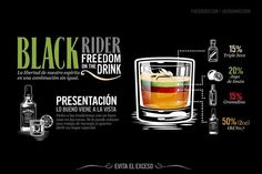 Jack Daniel's Drinks by Abraham García Sánchez, via Behance Bebidas Jack Daniels, Jack Daniels Cocktails, Whiskey Drinks, Wine Cocktails, Craft Cocktails, Black Rider, Triple Seco, Alcohol Recipes, Drink Recipes