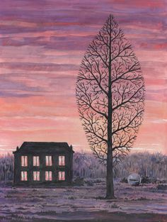René Magritte - La recherche de l'absolu, ca. 1963  Categorie: Aquarelles Média: gouache and brush and India ink on paper  Dimensions: 36 x 27 cm