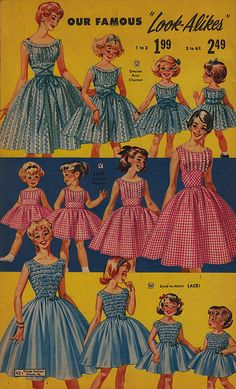 I still have the pictures of me and my sister and Mom in these dresses.