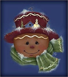 Almost as cute as Humpty my man Christmas Gingerbread Men, Gingerbread Ornaments, Christmas Rock, Christmas Canvas, Christmas Paintings, Christmas Projects, All Things Christmas, Holiday Crafts, Christmas Time