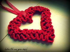 Would you like Yarn With That?: Crochet Ruffle Valentine Wreath-FREE pattern!