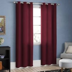 NICETOWN Home Decorations Thermal Insulated Solid Grommet Top Blackout Living Room Curtains/Drapes for Christmas & Thanksgiving Gift x 84 inches,Red) Grommet Curtains, Drapes Curtains, Curtain Panels, Blackout Panels, Blackout Curtains, Maroon Curtains, Custom Drapes, Colorful Curtains, Home Decor Outlet