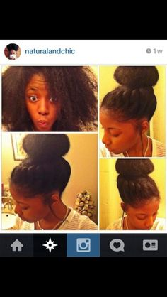 """imadethisforreasons: """" youngfashion-co: """" Essence- Protective Styles """" and look at how much of this is tight kinky hair. Be Natural, Natural Hair Tips, Natural Hair Styles, Natural Updo, Natural Beauty, Natural Girls, Natural Life, Love Hair, Big Hair"""