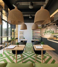 Clean food cafe fortes on behance design style 1 en 2019 εστιατόρια et φωτι Restaurant Branding, Bar Restaurant, Restaurant Concept, Restaurant Interior Design, Shop Interior Design, Café Design, Small Restaurant Design, Deco Cafe, Design Commercial