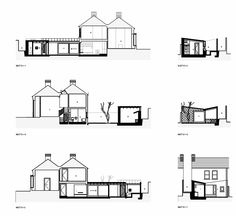 Gallery of Laneway Wall Garden House / Donaghy & Dimond Architects - 13 Lean To Roof, Dublin House, Rear Extension, House Extensions, Architecture Plan, Shade Garden, Architects, Floor Plans, Home And Garden