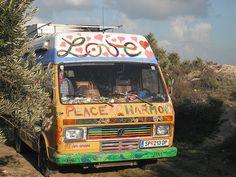 hippy bus #Bong #Pipe #Waterpipe #Stoner #Pot #Weed #Glasspipe #Teagardins #SmokeShop http://Teagardins.com