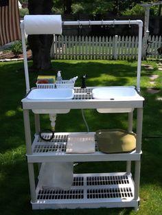 DIY Camp Kitchen With Working Sink - 50 Campfires